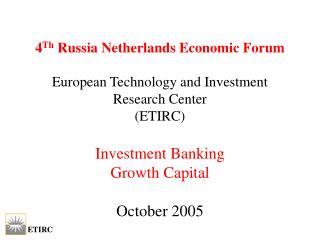 Objectives ETIRC