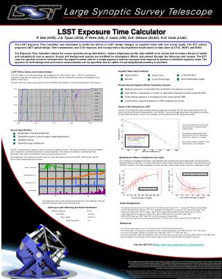 LSST Exposure Time Calculator