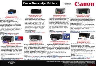 Canon PIXMA IX7000, A3+ (3302B009AA) RP: 520 €