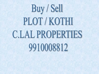 Residential Plots/Kothi in  Noida.9910008812
