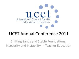 UCET Annual Conference 2011
