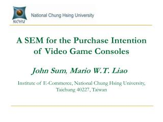 John Sum ,  Mario W.T. Liao