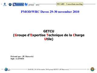 PMOD/WRC Davos 29-30 november 2010