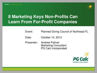 8 Marketing Keys Non-Profits Can Learn From For-Profit Companies