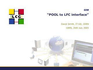 """""""POOL to LFC interface"""""""