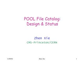 POOL File Catalog: Design & Status