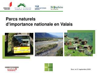 Parcs naturels  d'importance nationale  en Valais