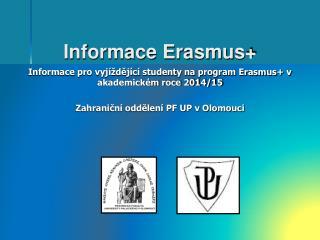 Informace Erasmus+