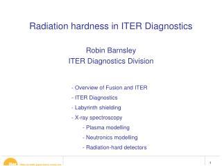 Radiation hardness in ITER Diagnostics