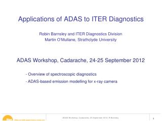 Applications of ADAS to ITER Diagnostics