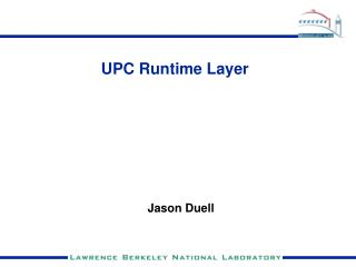 UPC Runtime Layer