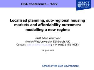 HSA Conference – York