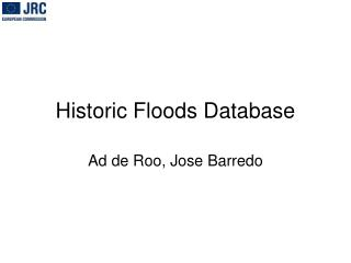 Historic Floods Database