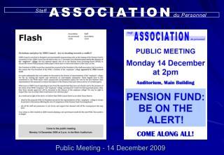 Public Meeting - 14 December 2009