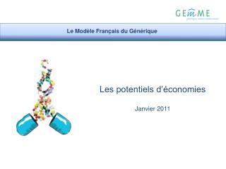 Les potentiels d'économies Janvier 2011