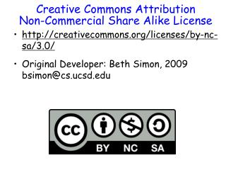 Creative Commons Attribution Non-Commercial Share Alike License