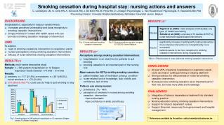 Smoking cessation during hospital stay: nursing actions and answers
