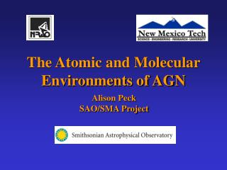 The Atomic and Molecular Environments of AGN
