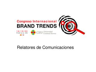 Relatores de Comunicaciones