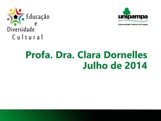 Profa. Dra. Clara Dornelles Julho de 2014