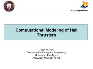 Computational Modeling of Hall Thrusters