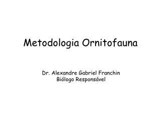 Metodologia Ornitofauna
