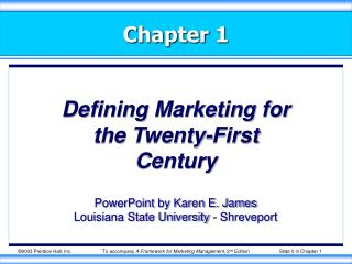 Defining Marketing for the Twenty-First Century