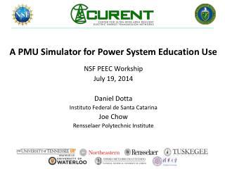 A PMU Simulator for Power System Education Use