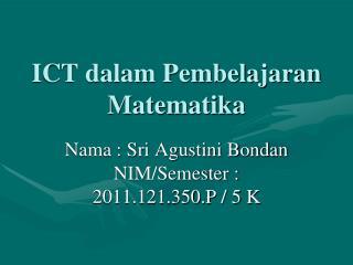 ICT dalam Pembelajaran Matematika