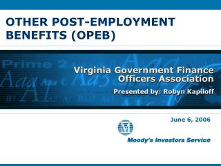 OTHER POST-EMPLOYMENT BENEFITS (OPEB)