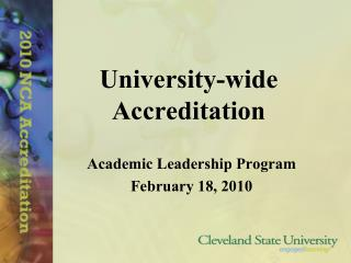 University-wide Accreditation