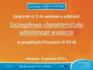 Rzeszów, 19 grudnia 2012 r.