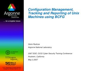 Configuration Management, Tracking and Reporting of Unix Machines using BCFG