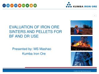 EVALUATION OF IRON ORE SINTERS AND PELLETS FOR BF AND DR USE