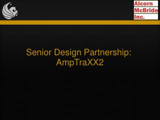 Senior Design Partnership: AmpTraXX2