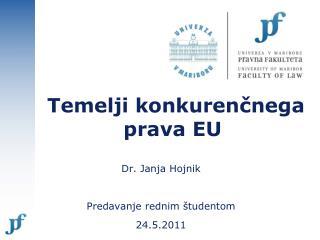 Temelji konkurenčnega  prava EU