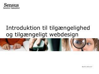 Introduktion til tilgængelighed og tilgængeligt webdesign