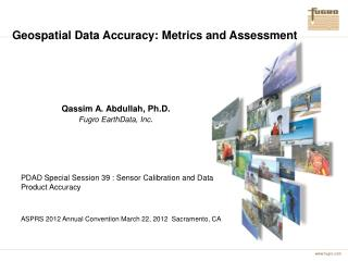 Geospatial Data Accuracy: Metrics and Assessment