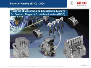 Better Air Quality (BAQ) - 2004