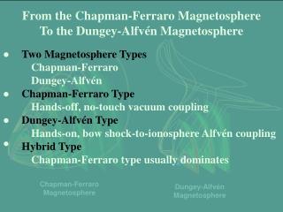 Chapman-Ferraro Magnetosphere