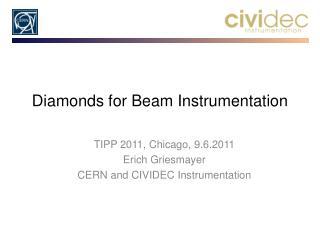 Diamonds for Beam Instrumentation