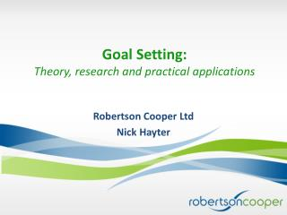 Goal Setting: Theory, research and practical applications