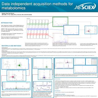 Data independent acquisition methods for metabolomics