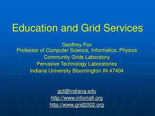 Education and Grid Services
