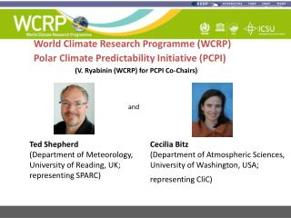 World Climate Research Programme (WCRP) Polar Climate Predictability Initiative (PCPI)