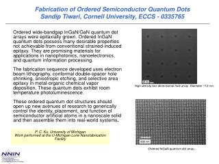 Ordered InGaN quantum dot array .