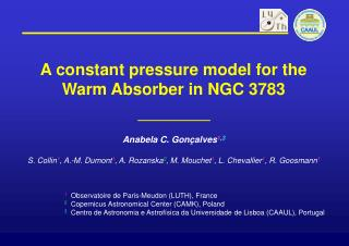 A constant pressure model for the  Warm Absorber in NGC 3783
