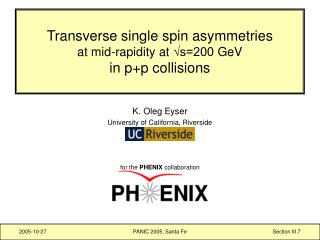 Transverse single spin asymmetries at mid-rapidity at  √s=200  GeV in p+p collisions