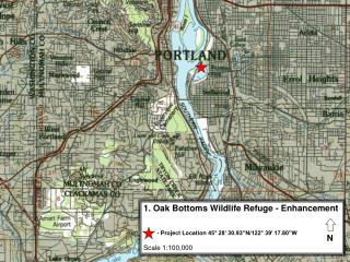 1. Oak Bottoms Wildlife Refuge - Enhancement Scale 1:100,000