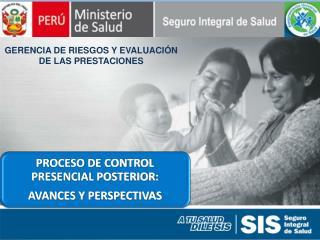 GERENCIA DE RIESGOS Y EVALUACIÓN DE LAS PRESTACIONES